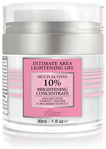 (Divine Derriere Intimate Skin Lightening Gel for Body, Face, Bikini and Sensitive Areas - Skin Whitening Cream Contains Mulberry Extract, Arbutin, B-White Peptide 30ml / 1 oz.)