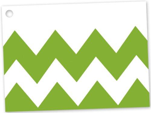 [해외]애플 그린 쉐 브 론 테마 기프트 카드 (6 팩) 3444x2 ~ 3 개 / Apple Green Chevron Theme Gift Card (6 Pack) 3-34x2-34