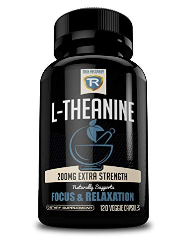 Premium L-Theanine 200mg | All Natural Relaxation, Stress Relief, and Focus Supplement | 120 Vegetarian Capsules -100% Non GMO | Works Synergistically With Caffeine for Enhanced Alertness and Focus