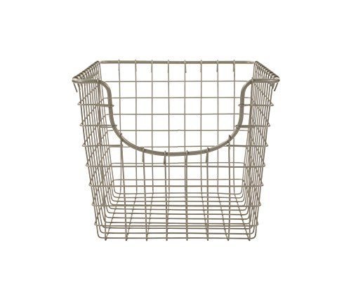 Spectrum Diversified Scoop Storage Basket, Small, Satin Nickel - Perfect storage solution for any room in the home Open design lets you easily view everything in the basket Sturdy steel construction - living-room-decor, living-room, baskets-storage - 41IDGhiQNwL -