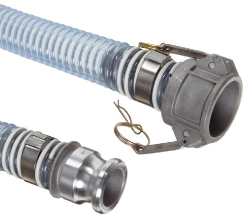Unisource 1750 Clear PVC Food Grade Hose Assembly, 1-1/2'' Aluminum Cam And Groove Connection, 29.8'' Hg Vacuum Rating 45 PSI Maximum Pressure, 25' Length, 1-1/2'' ID by Unisource (Image #1)