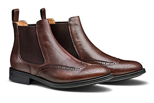 MORAL CODE Men's Leather Chelsea Boot Maxwell Coffee Leather 11 M US Men