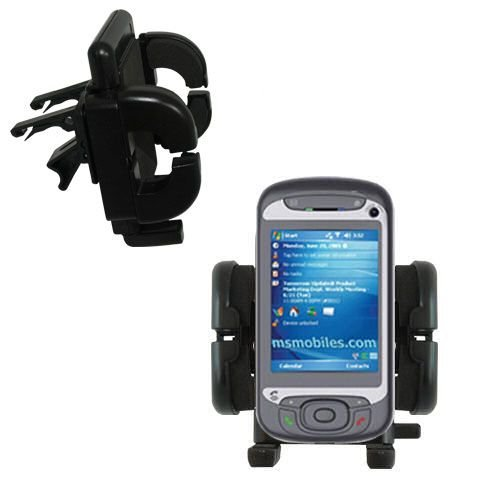 Innovative Vent Cradle Vehicle Mount designed for the i-Mate JasJam - Adjustable Vent Clip Holder for Most Car / Auto Vent Systems