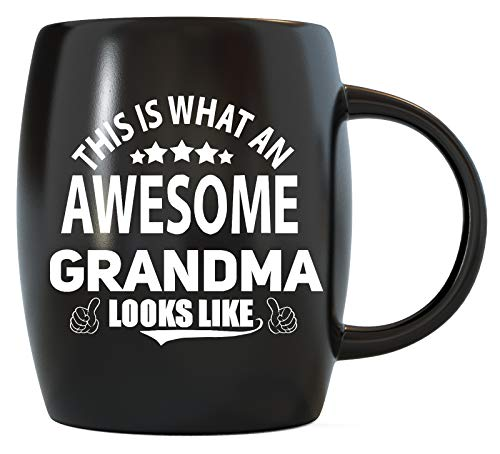 Mother's Day Gift for Best Grandmother Ever This Is What An Awesome Grandma Looks Like Mom Gift for World's Greatest Granny Christmas or Birthday Funny Novelty Gag Gifts Ceramic Coffee Mug Tea Cup