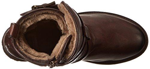 Frye Botas Tiras Valerie caña de la mujer Dark Brown-75008