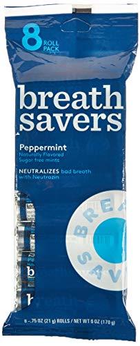 - BREATH SAVERS Mints in Peppermint Flavor 8-Rolls