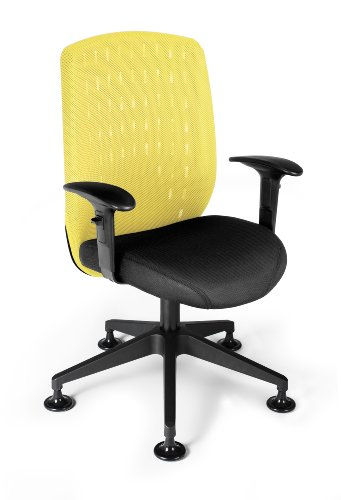 OFM Vision Executive Guest Chair - Mesh Back Conference Chair, Buttercup Yellow (655-2711)