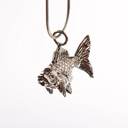Goldfish Silver Pendant Charm Necklace