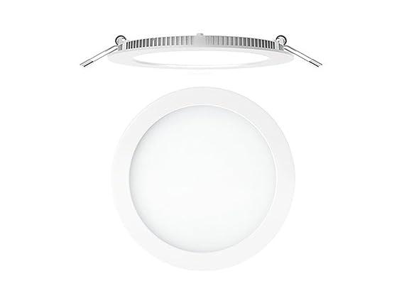 Secom 4296 08 01 84 - Foco aircom Micro LED circular 8 W 4000 ° K - 920Lm IP44 - empotrada blanco: Amazon.es: Iluminación
