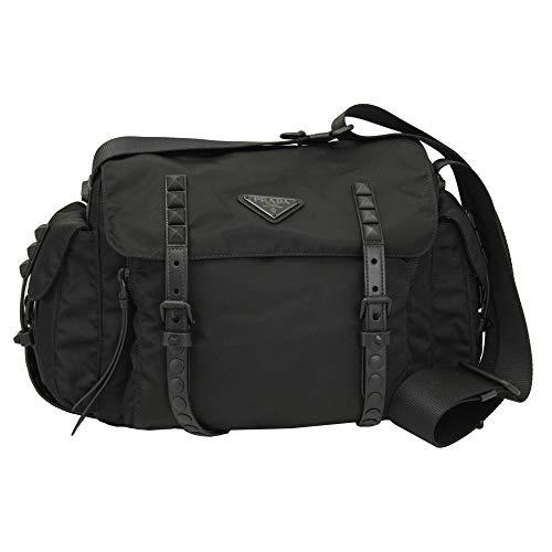 Prada Black Nylon Messenger Shoulder Bag 1BD118 ()