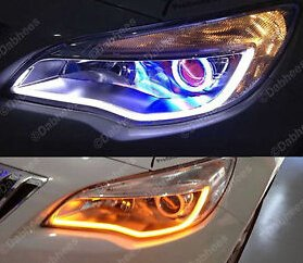60cm Illuminating Xenon White/Amber Dual Color Switchback LED Strip Lights For Headlights Retrofit Xenon Strip Lights