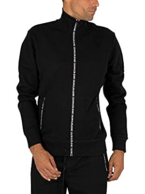 Calvin Klein Jeans Men's Zip Track Jacket, Black