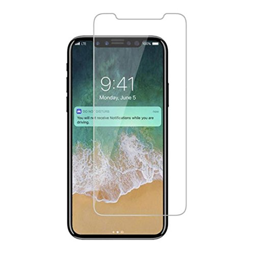 Dolloress for iPhone X,2PC 3D 9H Hardness Premium Real Tempered Glass Screen Protector Protective Film Cover for iPhone X by Dolloress (Image #4)
