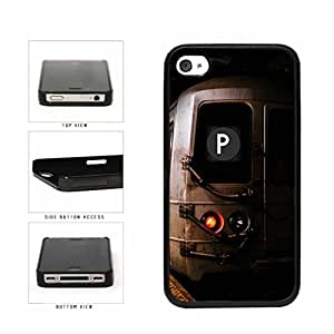 Personalized NYC Train Custom Letter P Plastic Phone Case Back Cover Apple iPhone 4 4s