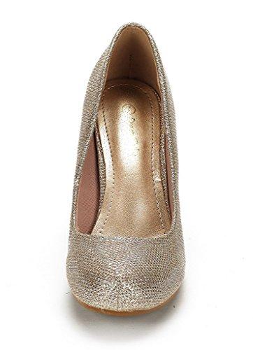 Shoes Heel Women's Classic GLITTER GOLD Dance Formal ARPEL Pumps ARPEL DREAM Low New PAIRS BERRY Rhinestones Evening w8xv7tq