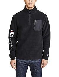Men's Half Zip Sweatshirt with Sleeve Script