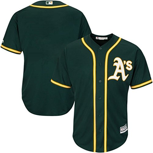 Oakland A's MLB Mens Majestic Cool Base Replica Jersey Green Big & Tall Sizes (3XT)