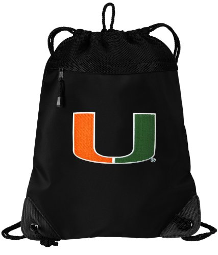 ng Bag University of Miami Cinch Pack Backpack UNIQUE MESH & MICROFIBER (Miami Gym Bag)