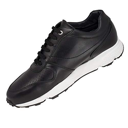 Jusqu'À en Peau Masaltos Semelle 7cm Lyon Noir Modèle Chaussures Fabriquées Augmentant Réhaussantes Homme Taille la pour avec Aqz71pAw