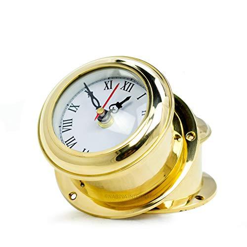 MB Ship's Clock Solid Brass Nautical Ships Maritime Timekeeper