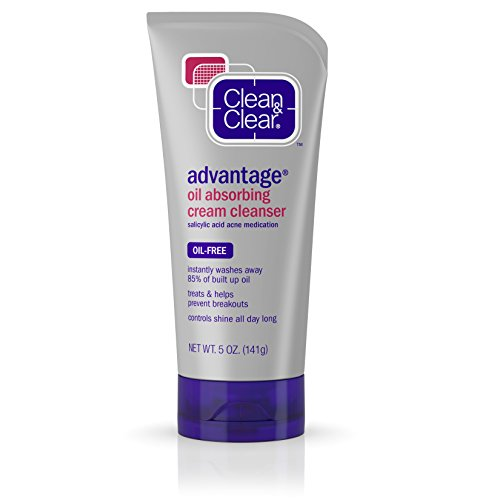 Clean & Clear Oil Absorbing Cream Cleanser For Acne-Prone Skin, 5 Oz.