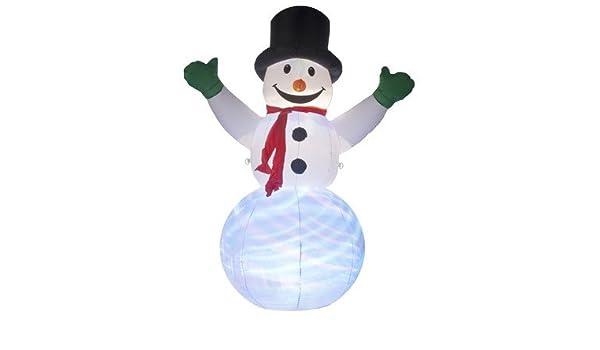 Muñeco de nieve hinchable con iluminación Disco pantalla por el ...