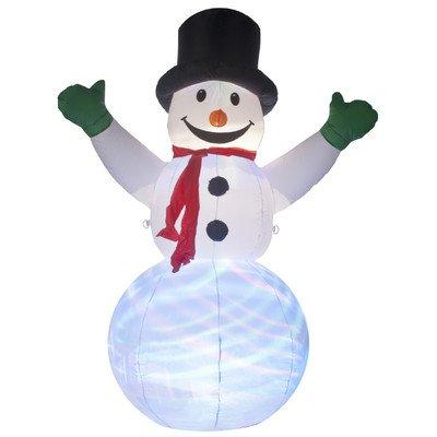 Muñeco de nieve hinchable con iluminación Disco pantalla por ...