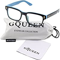 GQUEEN 201584 Modern Fashion Rectangular Thick Frame Clear Lens Glasses