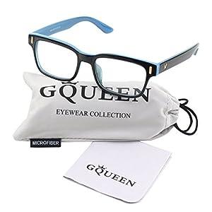 GQUEEN 201584 Modern Fashion Rectangular Thick Frame Clear Lens Glasses