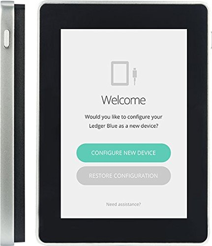 Ledger Blue Hardware Wallet by Ledger | Your Own Personal Security Device for Bitcoin Ethereum Litecoin Bitcoin Cash Ripple Dash Zcash NEO ICO Tokens and other Cryptocurrencies by Ledger
