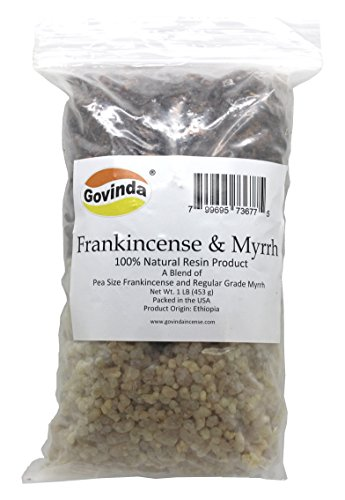 Govinda Natural Frankincense & Myrrh Resin Regular Grade - 1 Pound