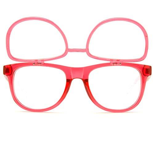 - GloFX Transparent Red Matrix Diffraction Glasses - Grating Ultimate Prism Double Effect Rave EDM