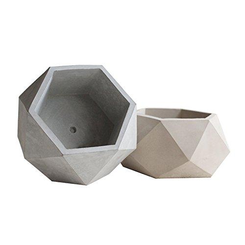 lieomo Handmade-1PC Modern Geometric Style Conerete Planter