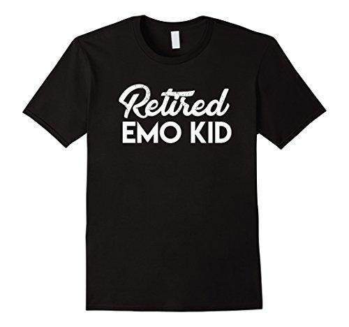 Mens Retired EMO KID T-shirt XL Black (Emo Kid T-shirt)