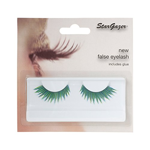 Stargazer False Feather Eyelashes No.51 Green and Blue Jagged Edge (Green Eyelashes)