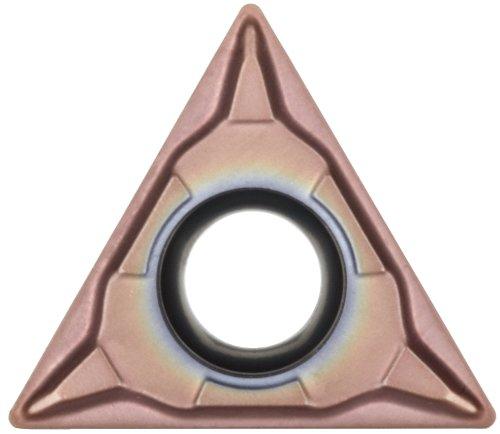 (Sandvik Coromant CoroTurn 107 Carbide Turning Insert, TCMT, Triangle, MM Chipbreaker, GC1125 Grade, Multi-Layer Coating, TCMT 3(2.5)1-MM, 3/8