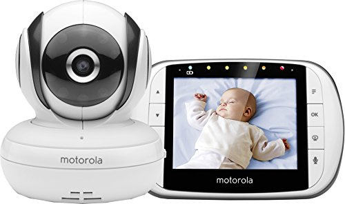 Motorola MBP36S Digitales Video Babyphone mit LC-Display in der Elterneinheit, 3.5 Zoll