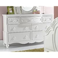 SweetHeart 7 Drawer Dresser - White - Dresser Only