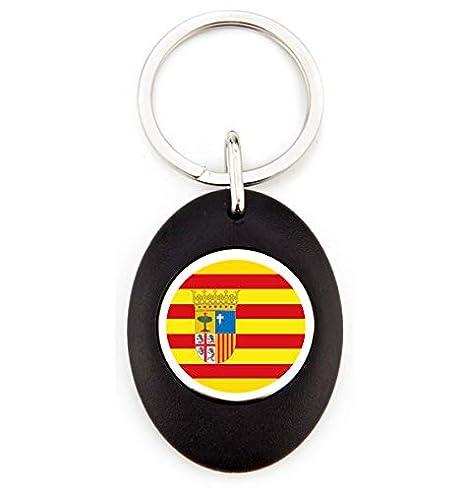 G1 Llavero Bandera Aragón | Llavero Acrílico Redondo con ...