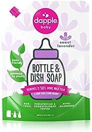 Dapple Baby Dish Liquid Eco Refill, Lavendar, 1 l (Pack of 1)