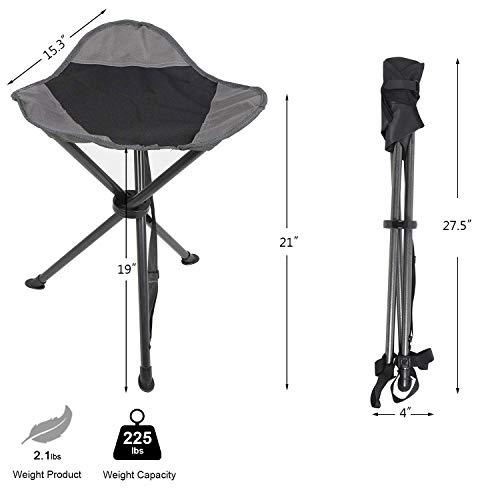 Tall Slacker Chair Folding Tripod Stool for Outdoor Camping Walk Hunt Chair