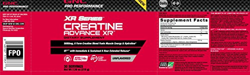 GNC Pro Performance XR Series Creatine Advance XR Unflavored 30 Servings