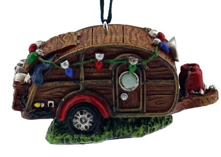 Vintage Camper Ornament made our list of the most unique camping Christmas tree ornaments to decorate your RV trailer Christmas tree with whimsical camping themed Christmas ornaments!