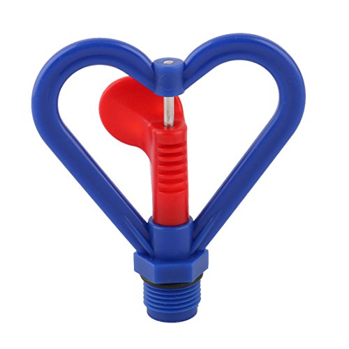 Shaped Heart Water (uxcell Plastic Garden Heart Shaped Plants Irrigation Water Sprayer Sprinkler Head Blue)