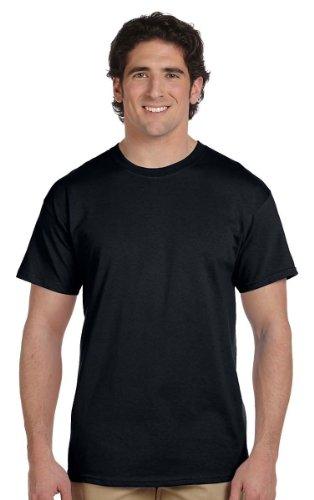 Fruit of the Loom Men's 6-Pack Stay Tucked Crew T-Shirt - Black - Medium