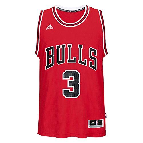 Dwayne Wade Chicago Bulls Adidas Road Swingman Jersey (Red) XL