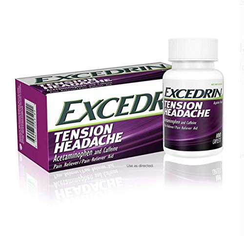 Excedrin Tension Headache Aspirin-Free Caplets for Head, Neck, and Shoulder Pain Relief ( 100 Count )pack of 2
