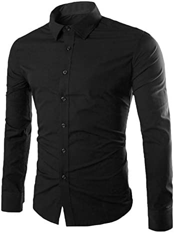 長袖シャツ メンズ ワイシャツ ビジネス イケメン 形態安定 スリム シンプル ボタンダウン 無地 5サイズ 8色あり