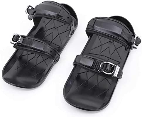 Obobb Snow Skiboard,Mini Ski Shoes Durable Adjustable Ski Boots Skate Cover Easy to Carry and Use Mini Short Ski Shoes