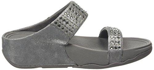 FitflopNovy Slide - sandalias mujer Gris - Grey (Pewter 054)